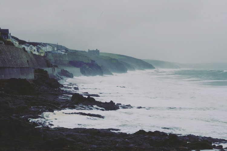 Looking out across to the Lizard from Porthleven Cornwall, travel, blog,