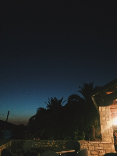 Rooftop restaurant on Solta