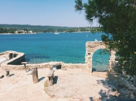 Beer garden with a difference on Necujam, Croatia