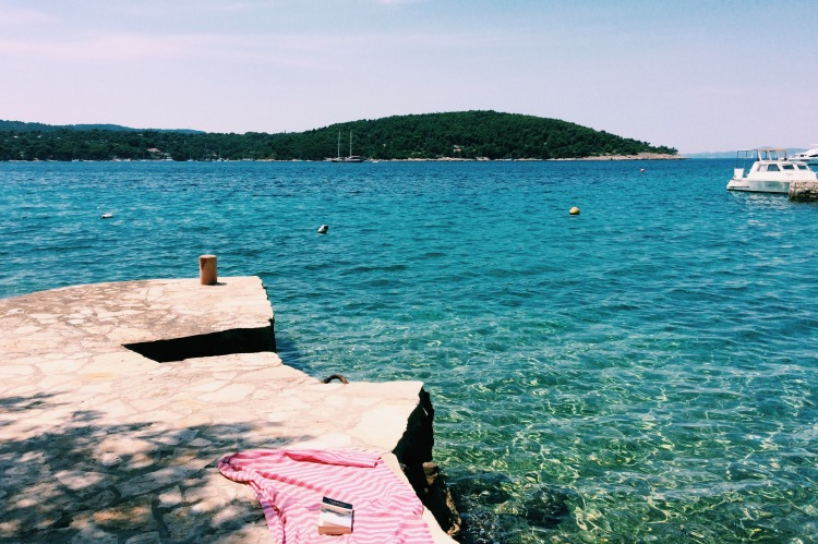 the perfect reading spot in Necujam, Solta, Croatia