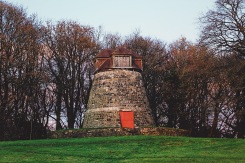 An old, disused windmill in Wiltshire