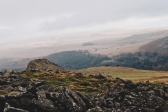 A misty Dartmoor National Park